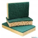 Tampon abrasif vert sur éponge