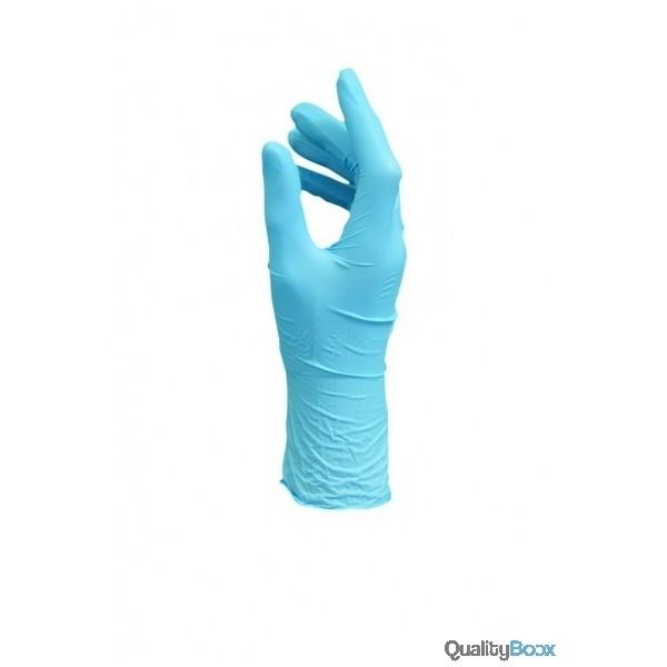 gants latex bleu poudr s protection des mains usage unique. Black Bedroom Furniture Sets. Home Design Ideas