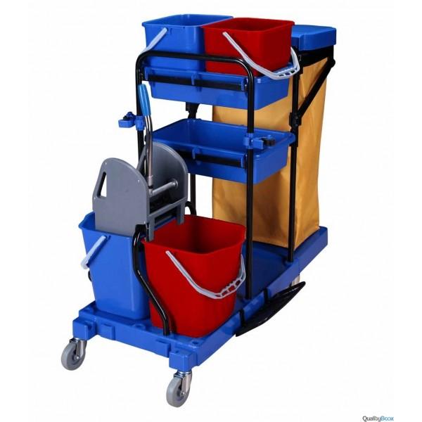 Chariot de m nage professionnel avec presse et support sac for Produit nettoyage cuisine professionnel